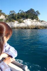 堂ヶ島船上にて